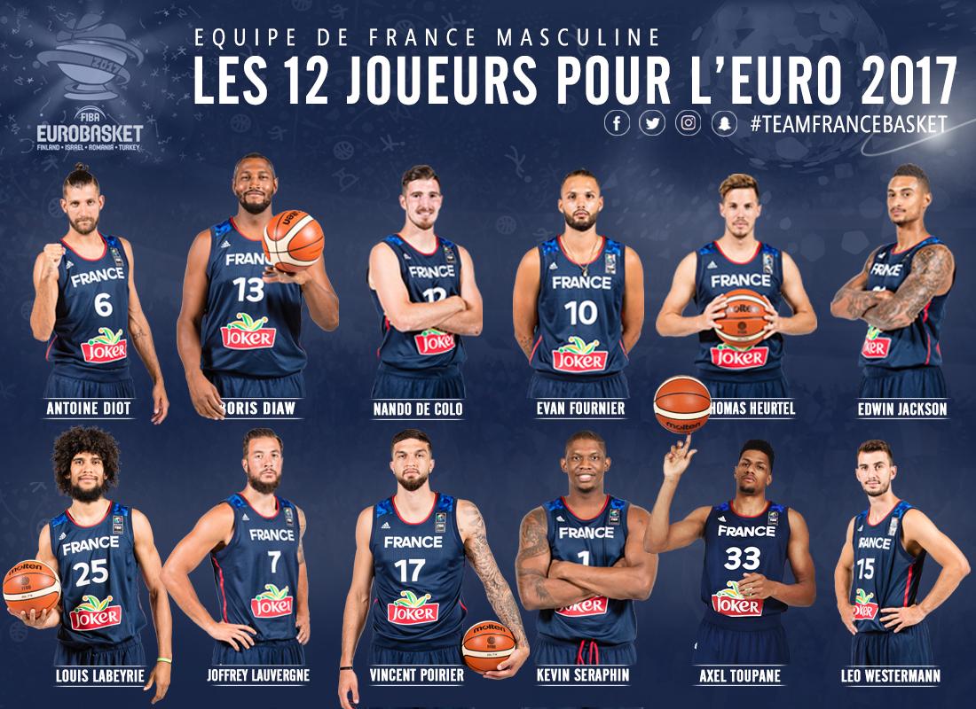 Les Douze Pour L Eurobasket 2017 Ffbb