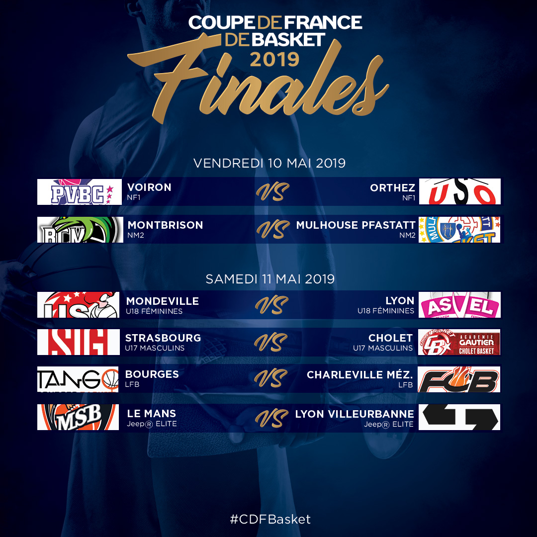 programme Finales Coupe de France 2019
