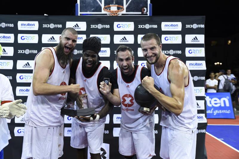 Bronchard, Gentil, Tsagarakis et Courby, vainqueur de l'Open de France