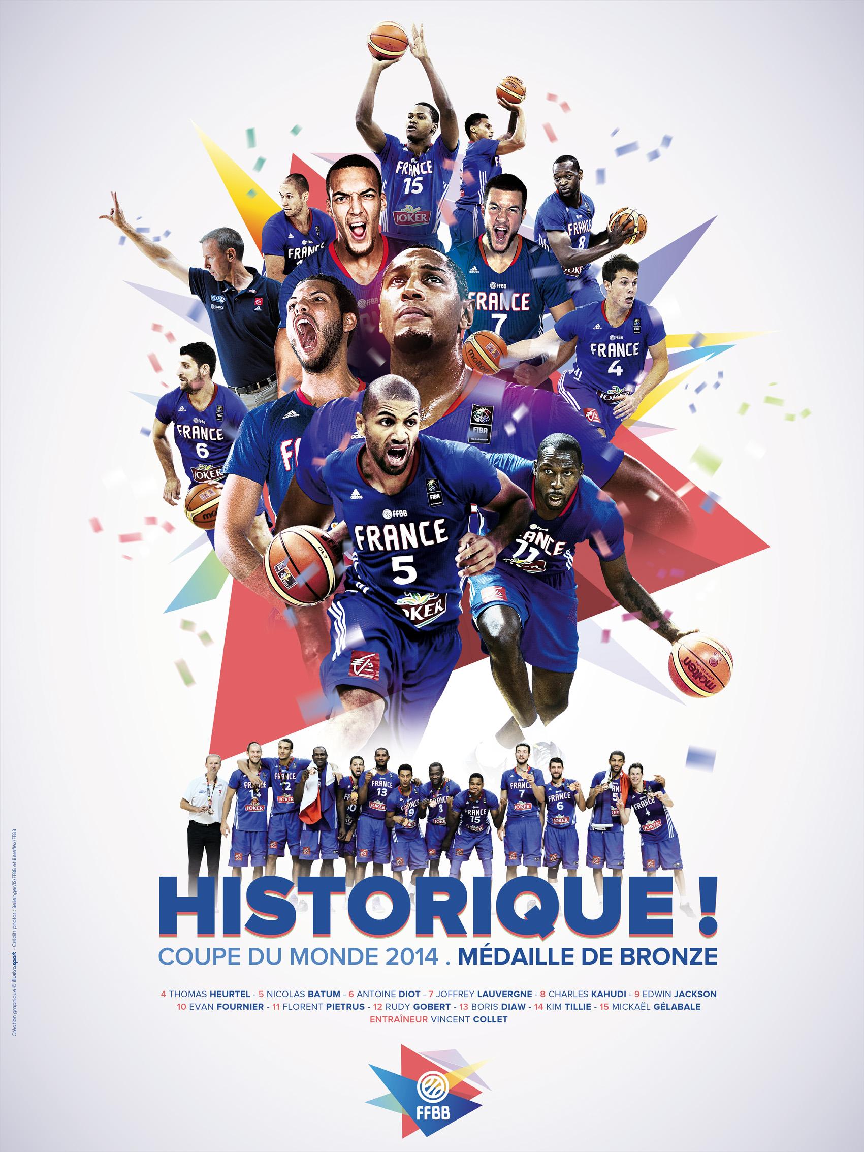 T l chargez le poster et les cartes des bleus ffbb - Coupe du monde 2010 equipe de france ...