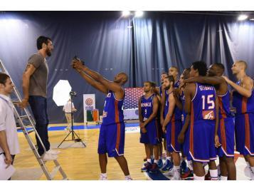 L'Equipe de France lors de la séance photo