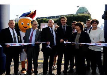 inauguration village basket de Lille