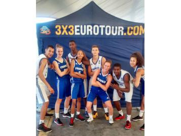 Les deux équipes de France 3X3 U18
