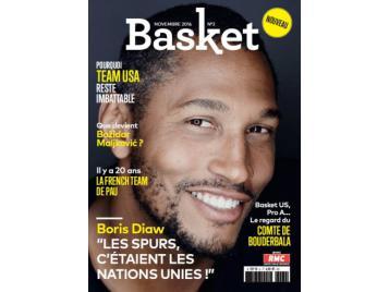 Boris Diaw en couverture du numéro 2 de Basket Le Mag