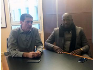 Jean-Pierre Siutat et Sakoba Keita président de la fédération guinéenne de basketball