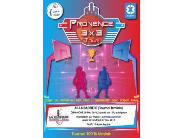 affiche tournoi 3X3 de Provence