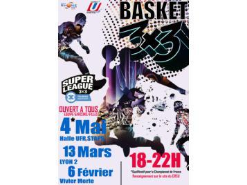 TOURNOI 3x3 UNIVERSITAIRE de Lyon, le 13 Mars