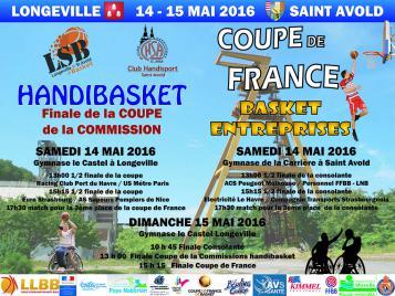 Affiche Finales Basket Entreprise