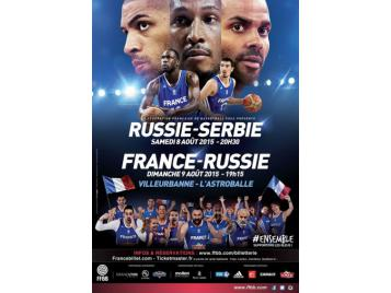 Affiche match France - Russie à Villeurbanne