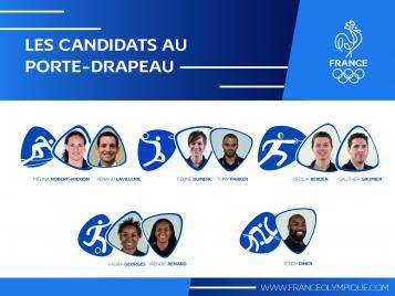 Les 9 derniers candidats au porte-drapeau