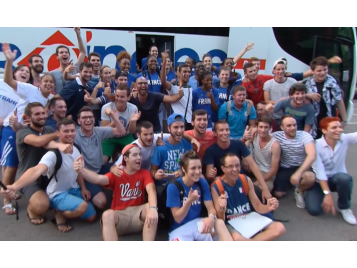 Supporters EDF féminine en Roumanie