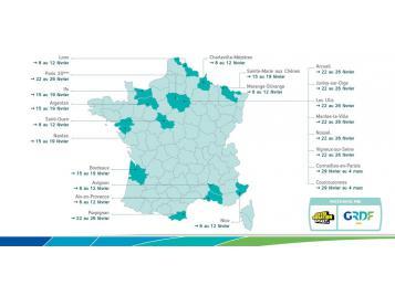carte GRDF des CGB