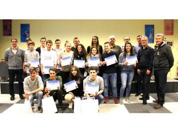 Les lauréats du CD67 et leur formateurs