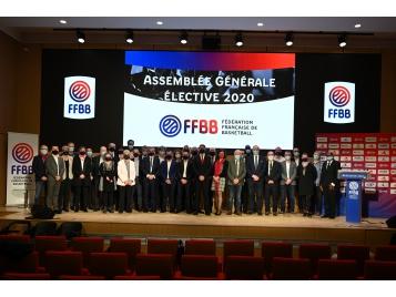 Le comité directeur de la FFBB le 19 décembre dernier lors de l'Assemblée Générale élective