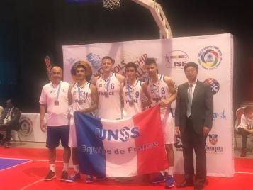 L'Equipe de France UNSS médaillé d'Argent à l'occasion du Mondial UNSS - Photo : ISF