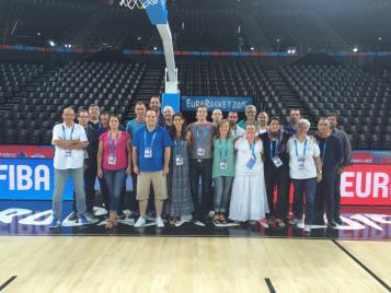 Les officiels de l'EuroBasket 2015