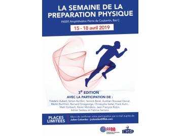 Affiche semaine de la préparation physique