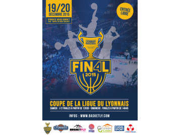 Affiche Final Four de la Coupe de la Ligue du Lyonnais