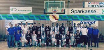 Les U16 tricolores avec leurs homologues allemands