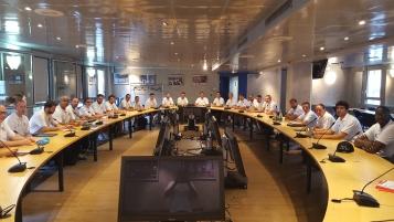 Les stagiaires en formation d'entraîneur au siège de la FFBB