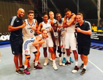Les 2 équipes de France 3x3 U18