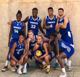 Les Equipes de France 3x3 U18 à Debrecen