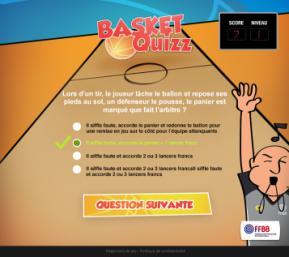 Ecran basket Quizz