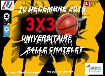 Affiche tournoi universitaire lille