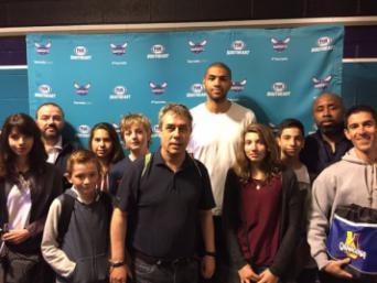 Nicolas Batum et les 6 licenciés UNSS