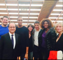 François Hollande en compagnie de sportifs