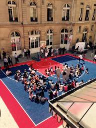 Opération basket à la mairie du neuf