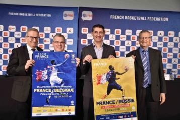 Philippe Durst, Thierry Bilichtin, Jean-Pierre Siutat, René Kirsch ont ouvert la billetterie des matches de février de l'Equipe de France Masculine