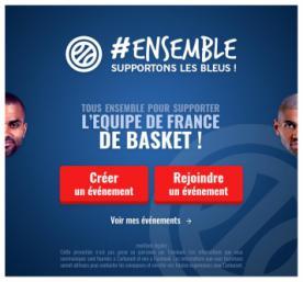 Application #Ensemble supportons les Bleus