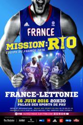 Affiche match France - Lettonie à Pau