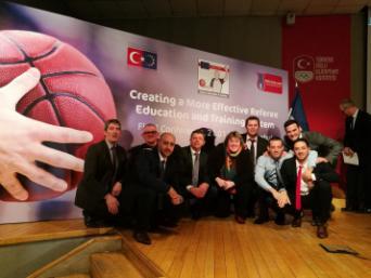 Les instructeurs d'arbitres français à Istanbul
