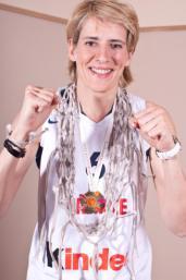 Cathy Melain sous le maillot bleu en 2009