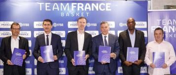 Présentation du Team France Basket