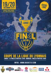 Affiche Final Four de la Coupe de la Ligue du Lyonnais