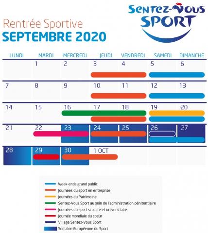 Calendrier Sentez-Vous Sport 2020