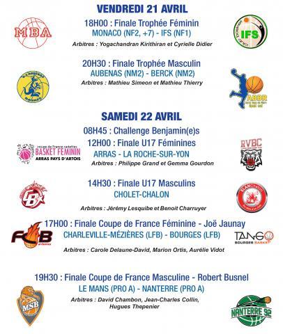 programme des finales de la Coupe de France 2017