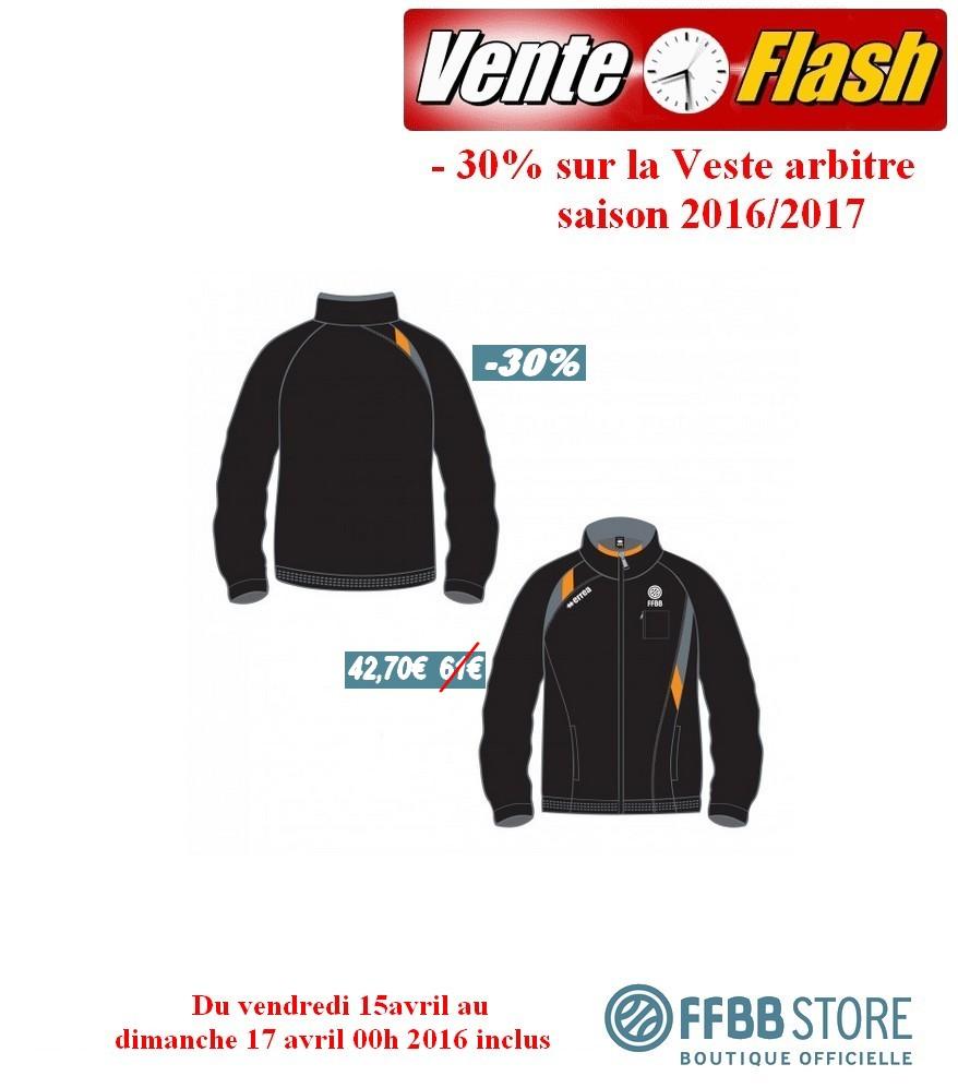 082c26590e Vente Flash -30 % sur la veste arbitre. FFBB Store ...